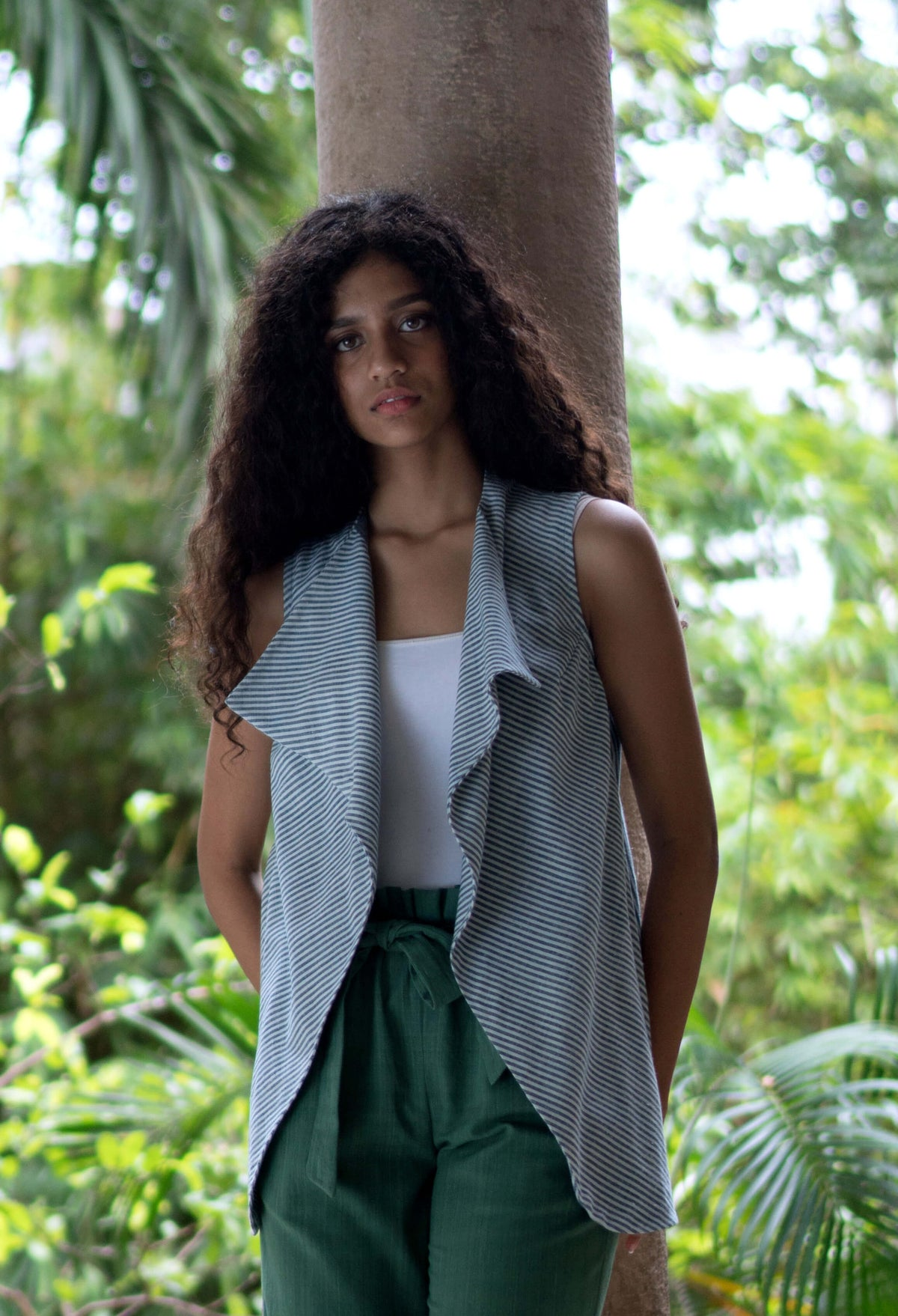 Organic Cotton Stripe Vest