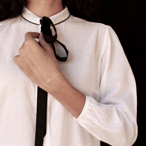 Collared Tie Shirt