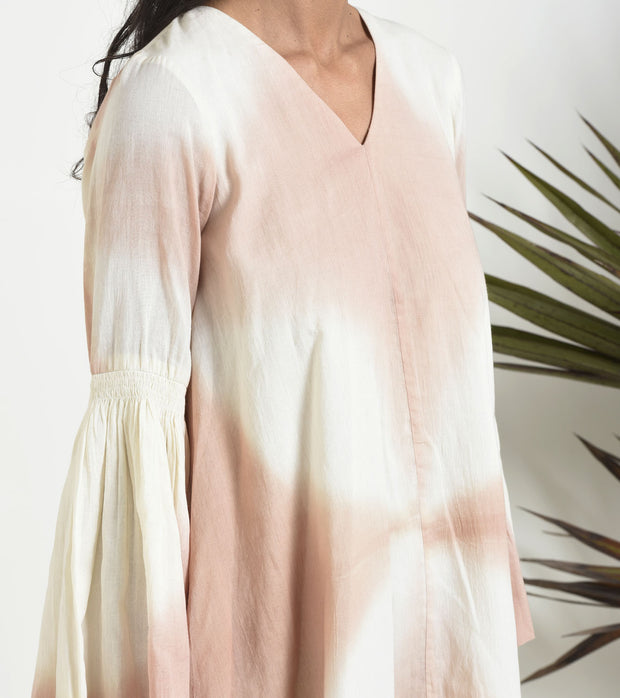 Peach Shibori Dress