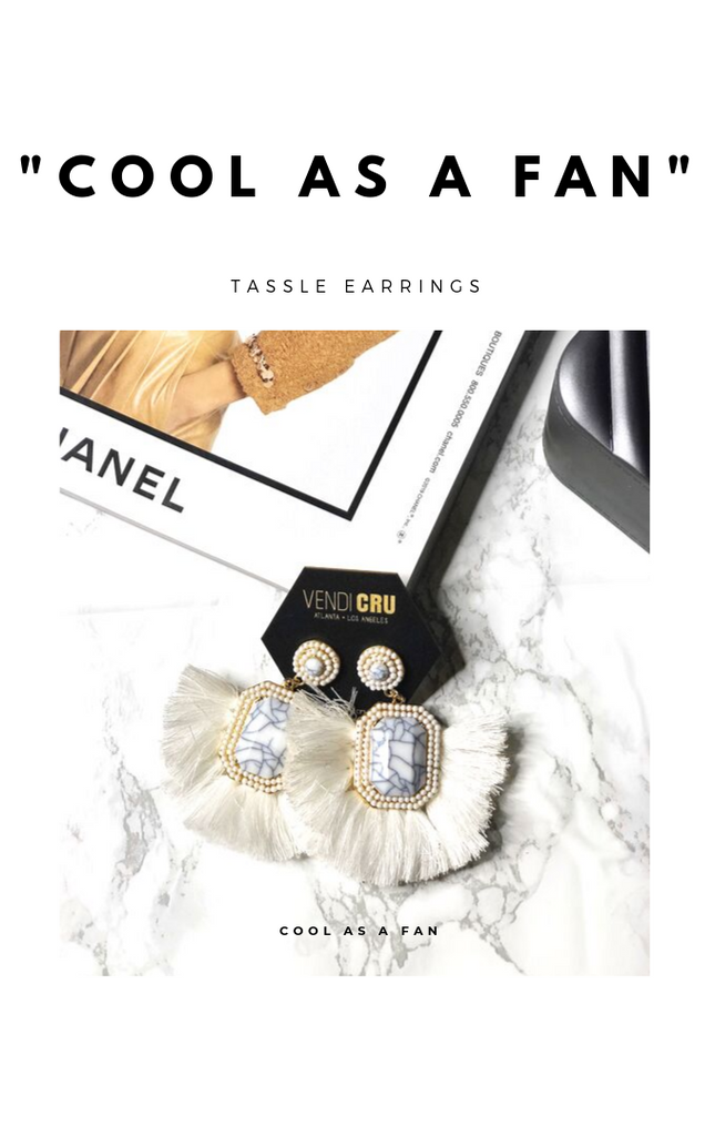 Cool As A Fan Earrings