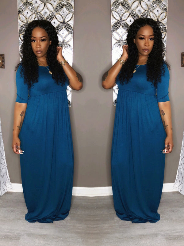 Growing & Glowing Mid-Sleeve Dress"