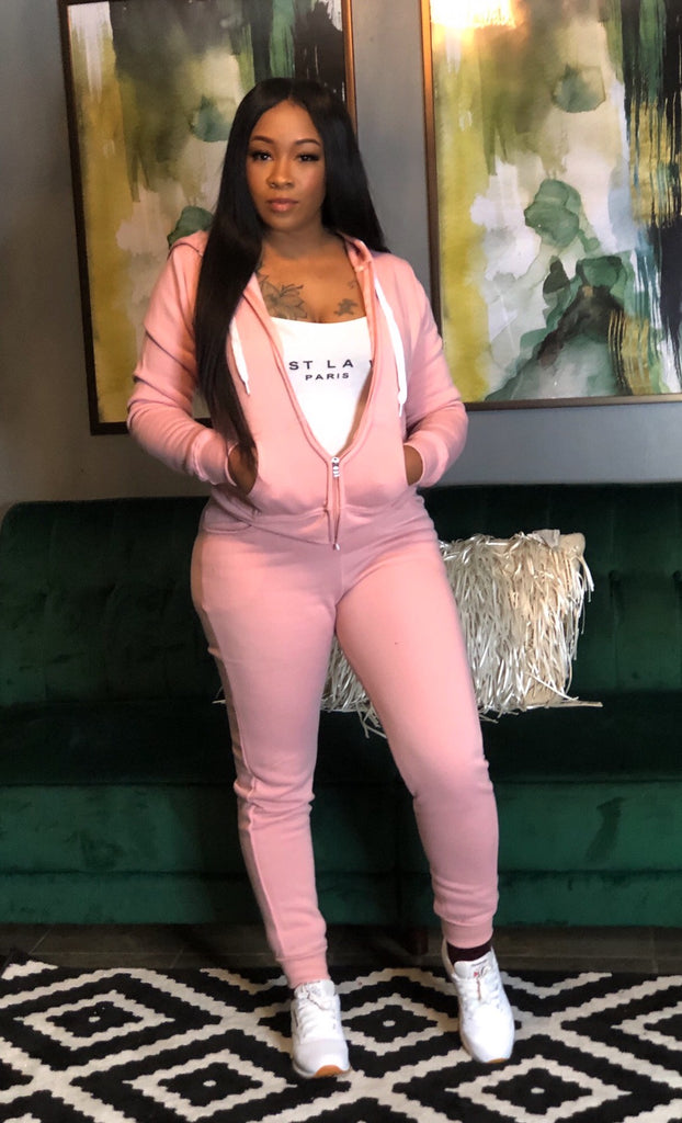 Out & About Jogger Set | Pink