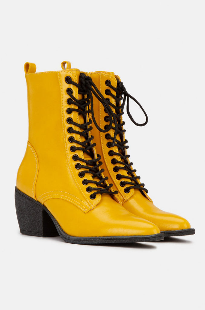 Happy Daze Yellow Bootie