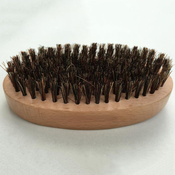 Wooden Natural Boar Bristles Brush for Mustache/Beard
