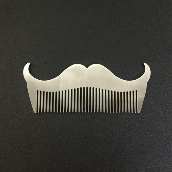Stainless Steel mustache Shape Comb