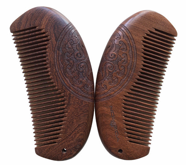 Pocket Natural Anti-static Sandalwood Comb for Mustache/Beard