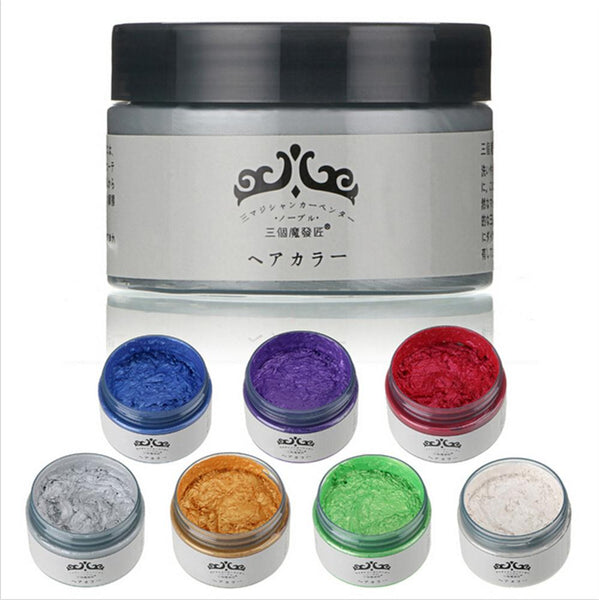 Japanese Temporary Hair dyeing Wax (7 Colors)