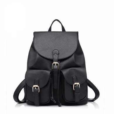 Realer Leather Backpack