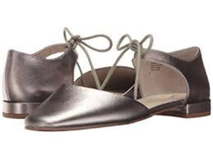 Seychelles Prospect Leather Flats 7M Pewter Metallic