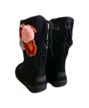 UGG Special Edition Crochet Classic Floral 8M New!,your-fashions-for-less,Ugg,Boots.