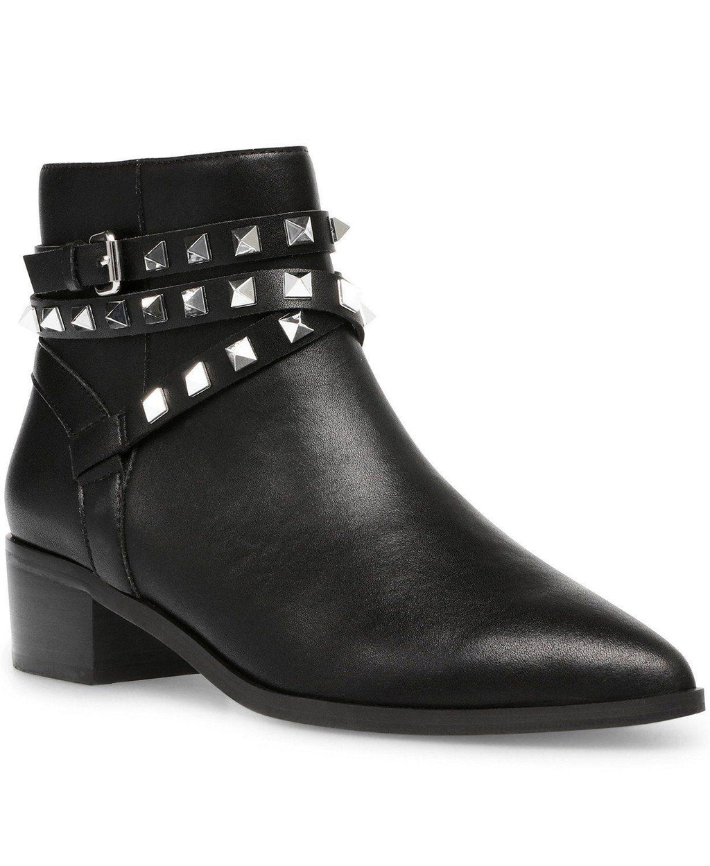 Steve Madden Leather Besto Studded Ankle Booties 8M or 9M New,your-fashions-for-less,Steve Madden,Boots.