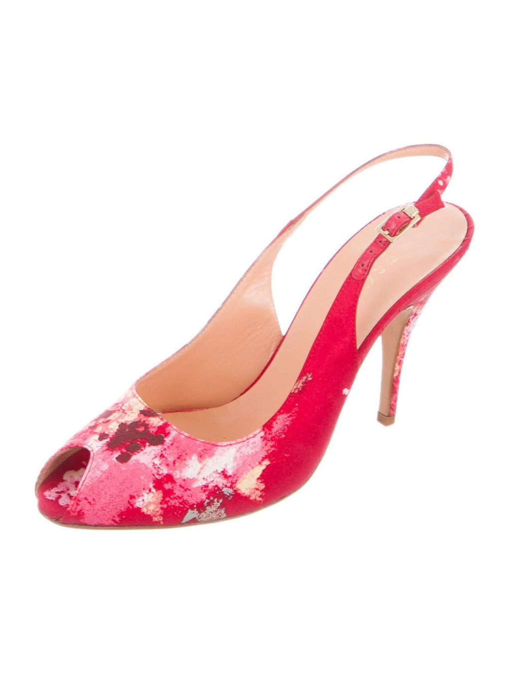ESCADA Printed Sling Back Pumps Size: 8 | IT 38 New!,your-fashions-for-less,Escada,Heels.