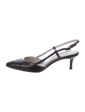 Jason Wu Leather Slingback Heels US 7.5 (IT 37.5),your-fashions-for-less,Jason Wu,Heels.
