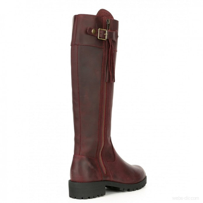 Volatile Nottingham Tall Leather Boots 7M Brand New