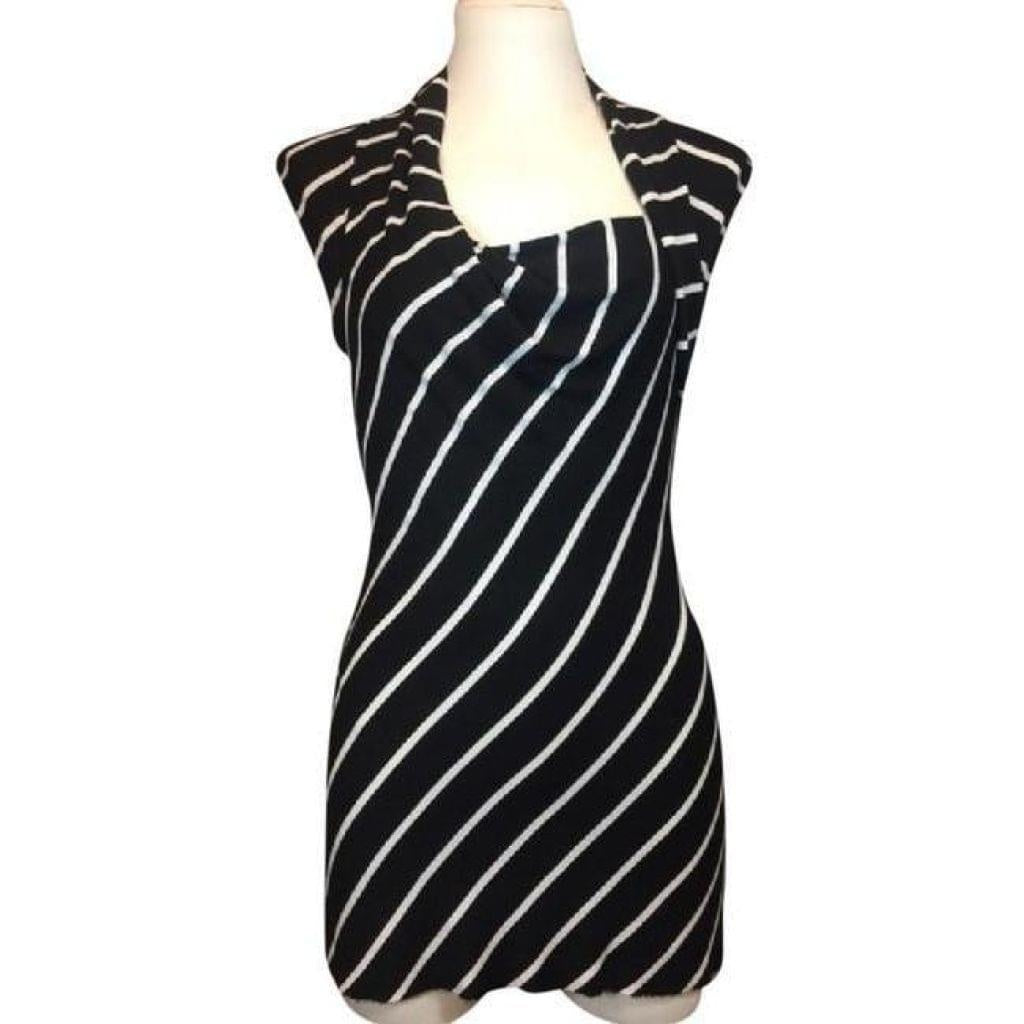 Bailey 44 Sleeveless Black Striped Tunic M - Your Fashions For Less