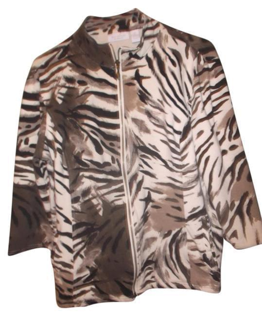 Chico's Weekenders Animal Print Jacket  2 (10-12) - Your Fashions For Less