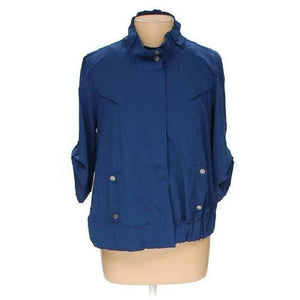 Chico's Zenergy Royal Blue Jacket Medium (1 8-10) - Your Fashions For Less