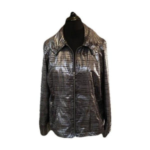 Chico's Zenergy Spectacular Shimmer Jacket 2 (10-12) - Your Fashions For Less