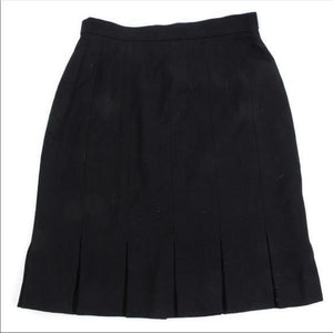 Escada Black Wool Pleated Skirt 10 Classic! - Your Fashions For Less