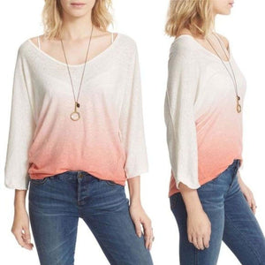 Free People Strawberry Gradient Slouch Top Small New! - Your Fashions For Less