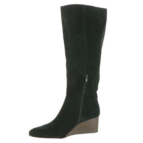 Sole Society Deannah Tall Leather Wedge Boots 10M Brand New