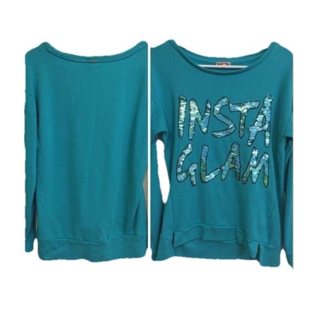 Juicy Couture Sequined Sweatshirt M,your-fashions-for-less,Juicy Couture,Tops.