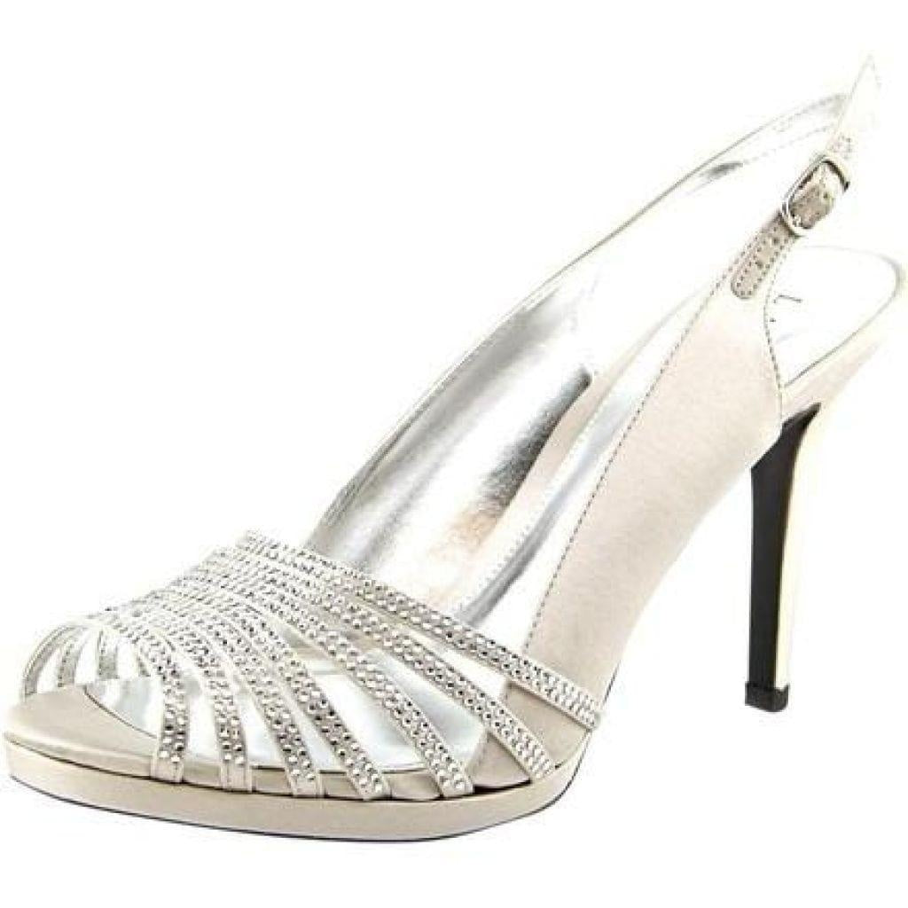 Lauren Ralph Lauren Brittany Crystal Silver Platforms 7M - Your Fashions For Less