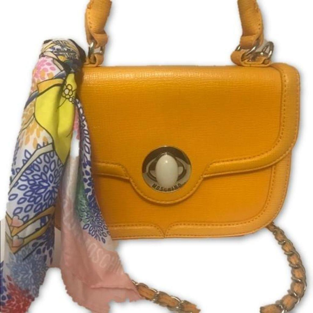 Love Moschino Scarf Orange Satchel Free Shipping! - Your Fashions For Less