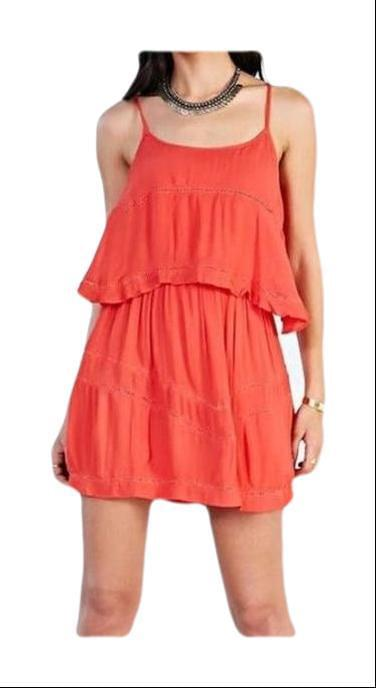 Lovers & Friends Red Ruffle Dress Small Perfect!-Lovers + Friends-Your Fashions For Less