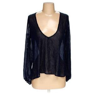 Lovers + Friends Shimmery Sheer Navy Tunic M Perfect!