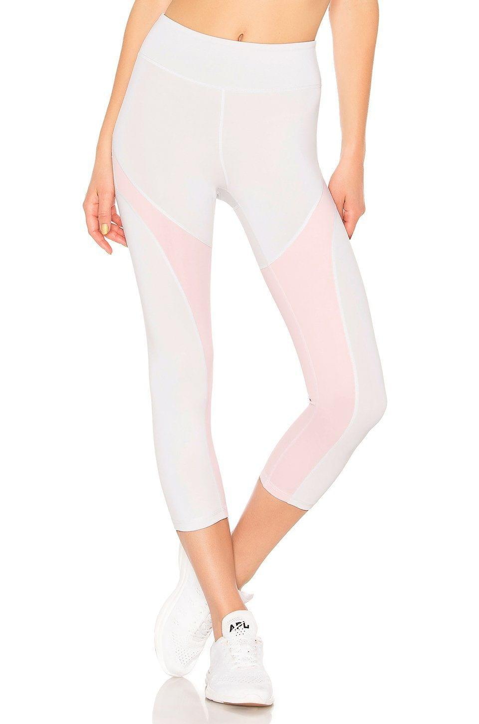 Lovewave White & Peach Leggings Brand New! Large - Your Fashions For Less
