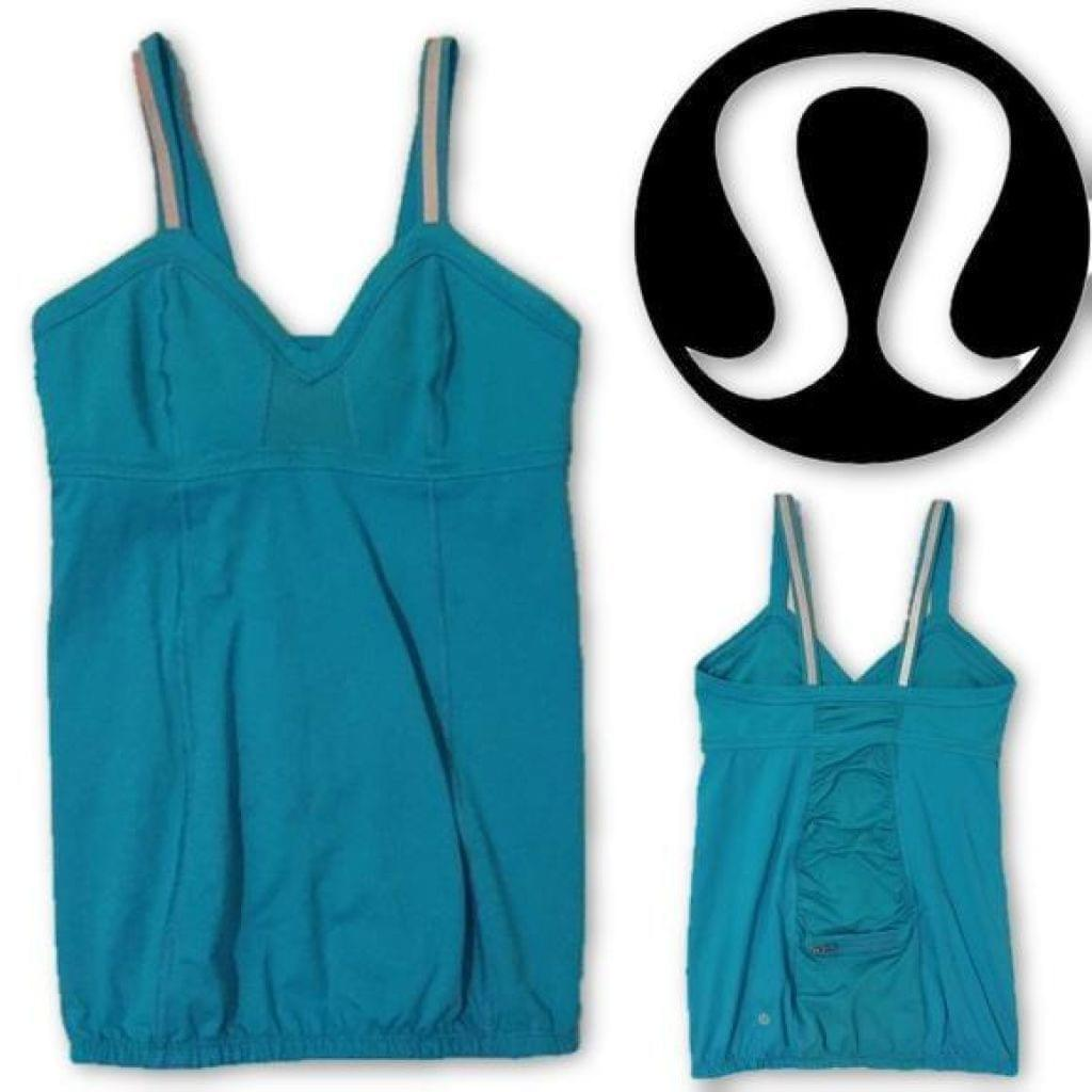 Lululemon Turquoise Top Size 8 Top Perfect!,your-fashions-for-less,Lululemon,Tops.