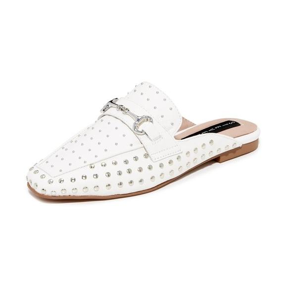 Steven By Steve Madden Studded Leather Mules New 9M,your-fashions-for-less,Steven By Steve Madden,Slides.