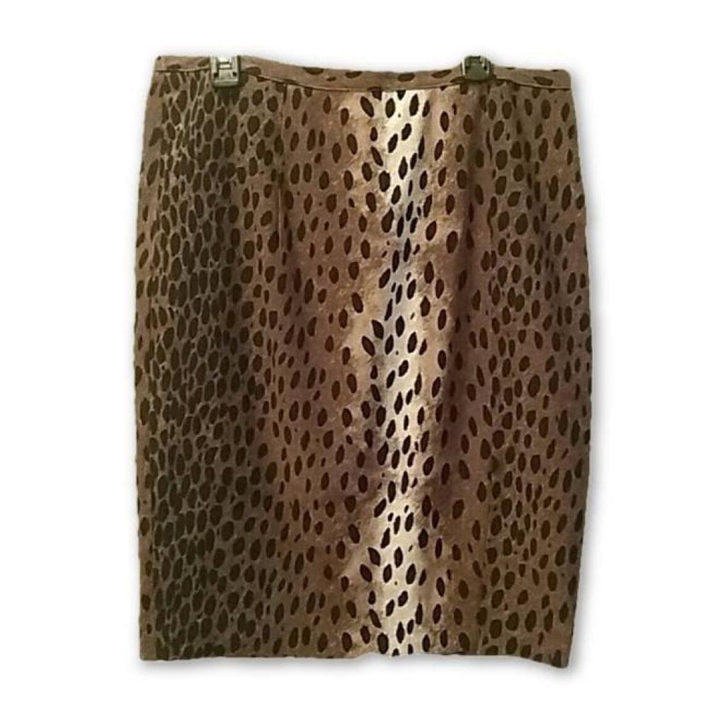 Michael Kors Animal Print Pencil Skirt Brand New Size 6 - Your Fashions For Less