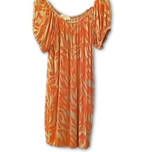 Michael Kors Gorgeous Orange Gray Silky Dress Small - Your Fashions For Less