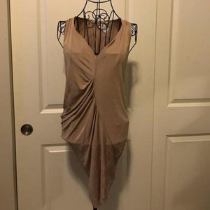 Rachel Roy Tan Ruched Mini Dress X-Small Rachel Roy- Your Fashions For Less