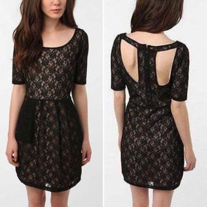 Silence + Noise Intersection Black Lace Dress Medium - Your Fashions For Less