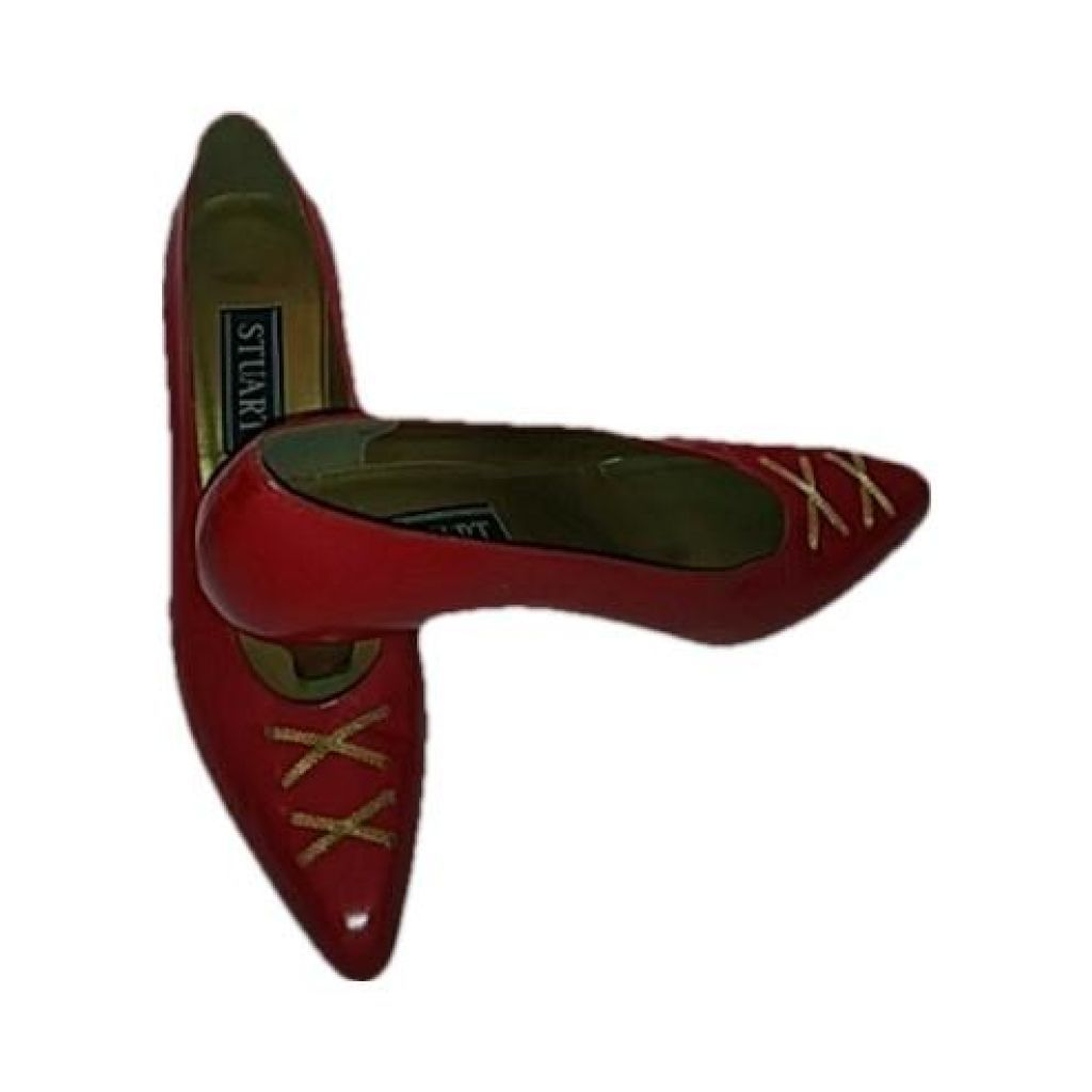 Stuart Weitzman Red Leather Heels Size 7M - Your Fashions For Less