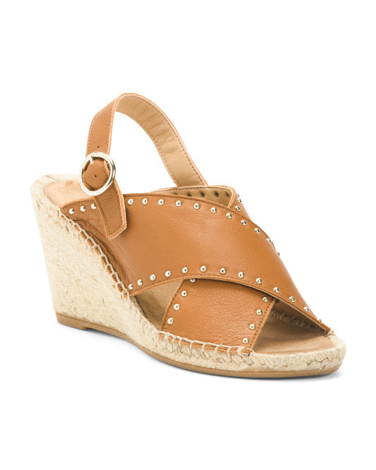 MAYPOL Leather Wedges 39 (US 9) Brand New,your-fashions-for-less,MAYPOL,Sandals.
