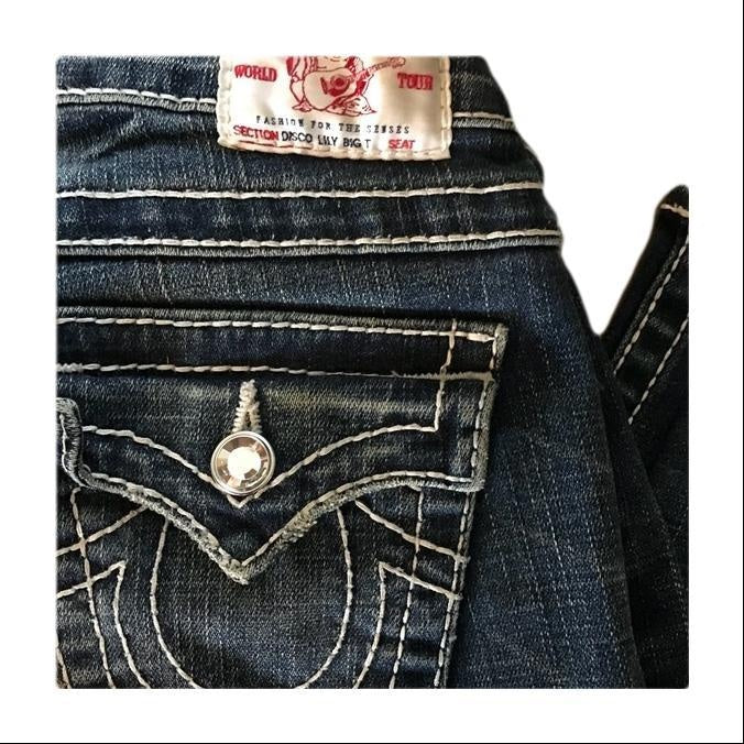 True Religion Lily Big T Cropped Jeans 25 Perfect!