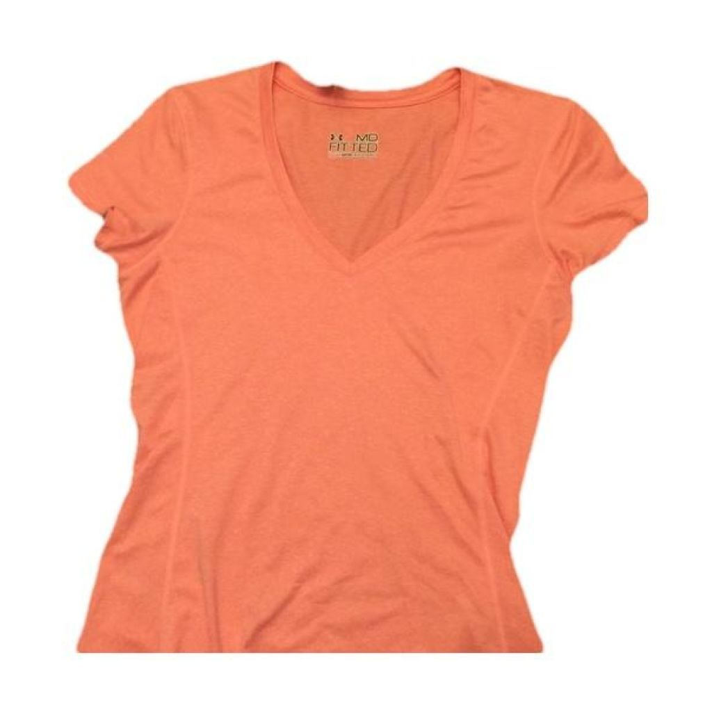 Under Armour Orange Fitted Top Medium Perfect!,your-fashions-for-less,Under Armour,Tops.