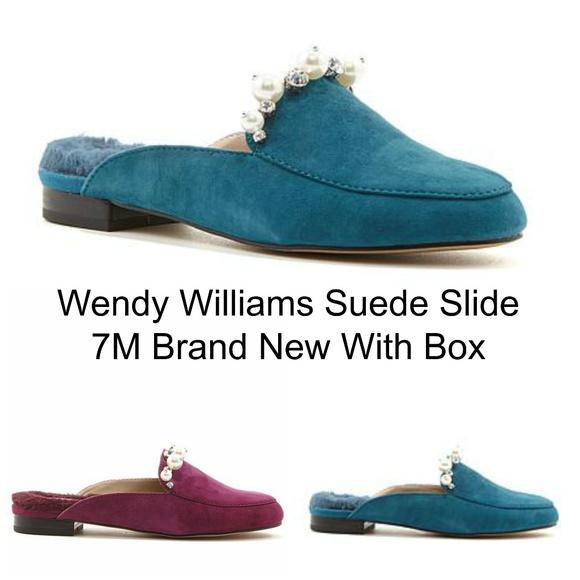 Wendy Williams New Faux Fur Suede Slides 7M New-Wendy Williams-Your Fashions For Less