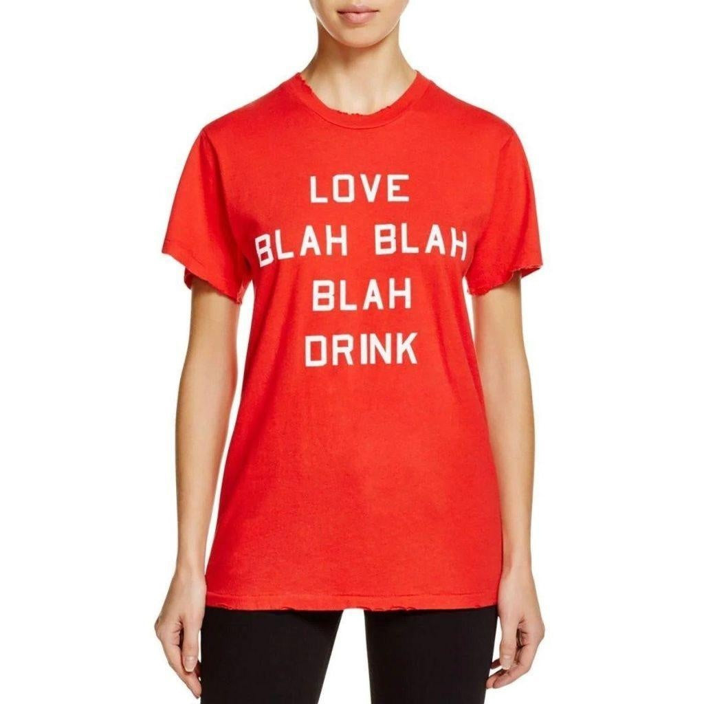 Wildfox Slogan Tee T Shirt Red Size Medium Brand New! $49 Free Shipping-Wildfox-Your Fashions For Less