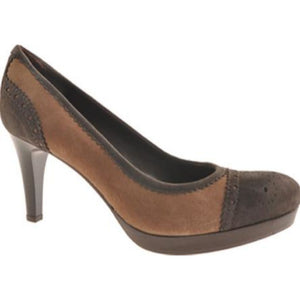 Zita Maria Nessa Legno/Beige Heels Made in Italy US Size 10M New!-Zita Maria-Your Fashions For Less