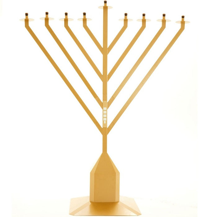 9 Foot Tall Display Menorah, Gold Finish