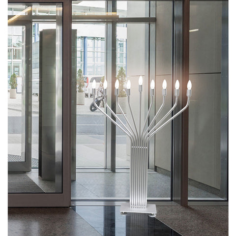 Large Display Menorah with Auto Lighting - 44'' Tall