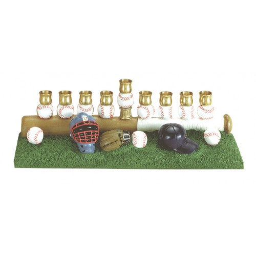 Baseball Menorah