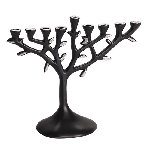 Aluminum Tree Menorah with Black Finish