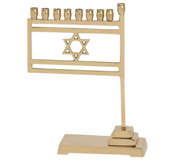 Israeli Flag Menorah