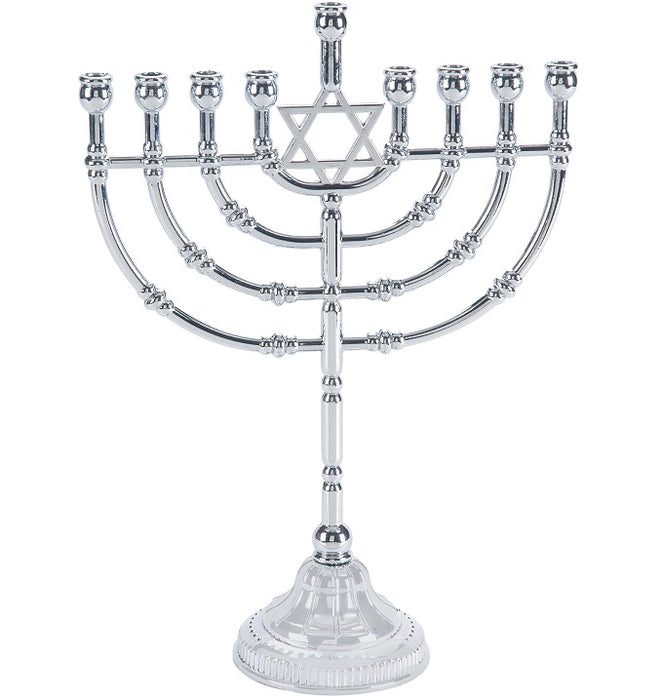 Nickel Star of David Traditional Menorah